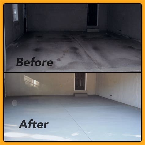 Resurface Garage Floor With Epoxy by Before After Garage Floor Resurfacing Tybo Concrete