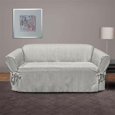 surefit muskoka stripe relaxed fit sofa slipcover