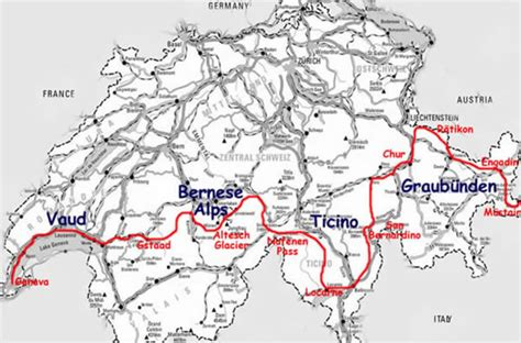 Rhythm And Alps Travel Map Directions And Location Swiss Alps Trekking Hiking Trip Report From Switzerland