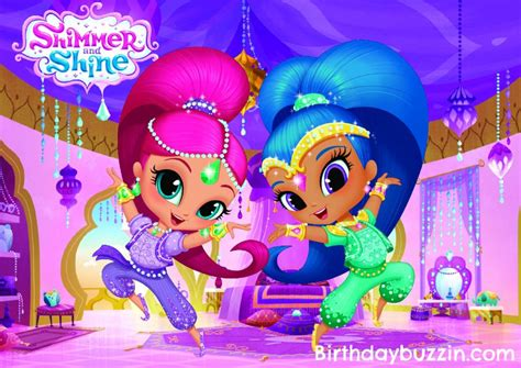 printable shimmer  shine placemats birthday buzzin