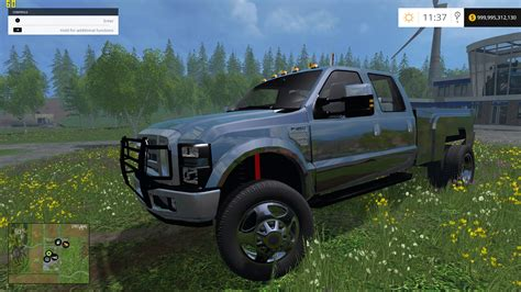Ford Diesel Truck Mpg by F350 Ford Diesel Black Truck Farming Simulator