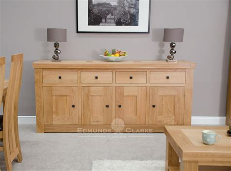 Sideboard Oak Furniture by Hadleigh Solid Oak Chunky Large Sideboard Edmunds