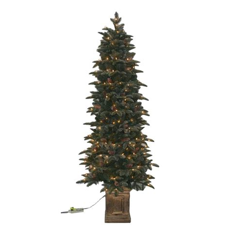 general foam 75 ft pre lit siberian frosted pine artificial christmas tree with clear lights and pine cones best 28 6 5ft pre lit artificial shop living 6 5 ft 1000 count pre lit seneca pine