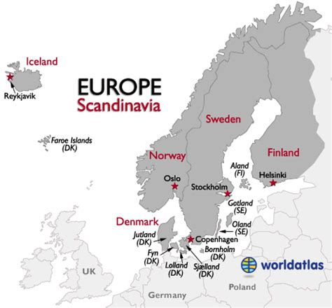 images  places pictures  info scandinavia map europe