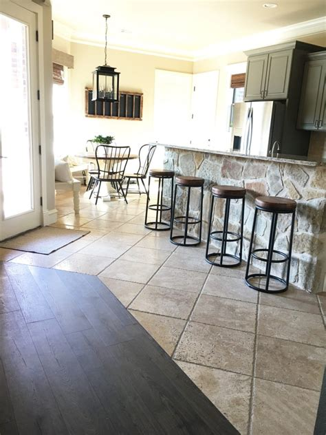 flooring for kitchen and family room laminate flooring in my kitchen shanty 2 chic 8257