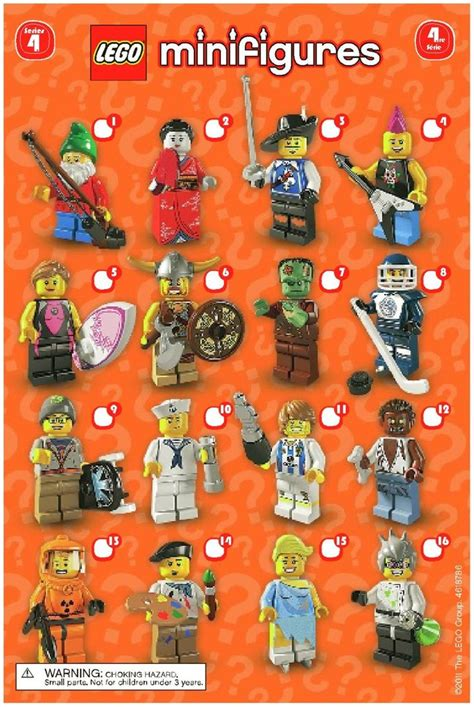 lego minifigures series 4 lego we lego and artists