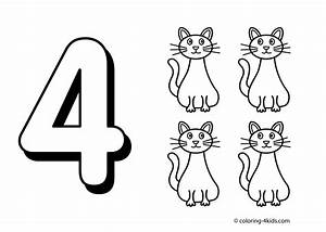 black and white coloring pages - number 4 coloring sheets clipart black and white clipground