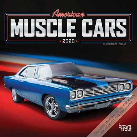 american muscle cars monthly mini wall calendar racing