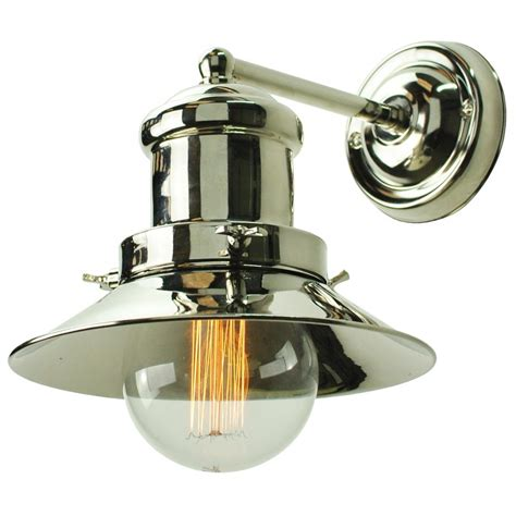 nickel fisherman nautical style wall light with edison