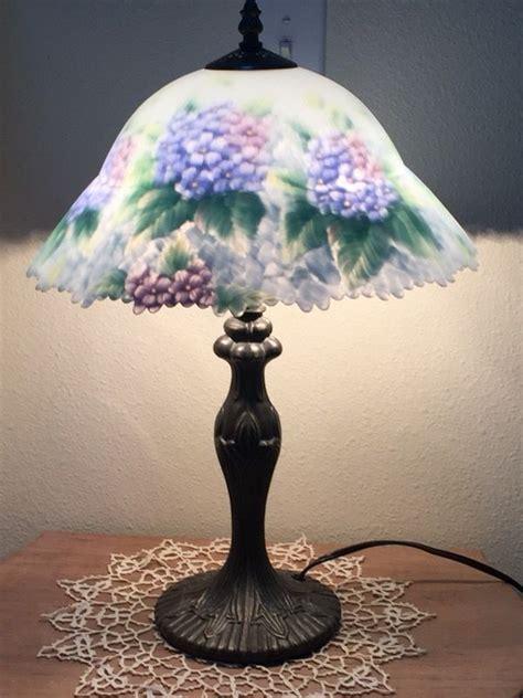 glynda turley tiffany style hydrangea lamp  sale