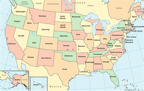 maps united states map color