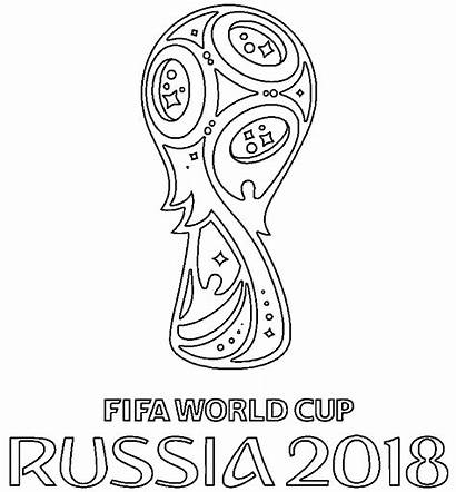 Cup Coloring Pages Fifa Printable Soccer Official