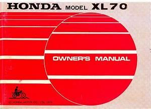 1973 Honda Xl70 Owners Manual