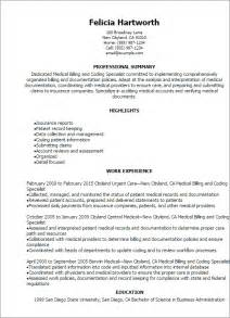 Exle Of Billing And Coding by Professional Billing And Coding Specialist Resume