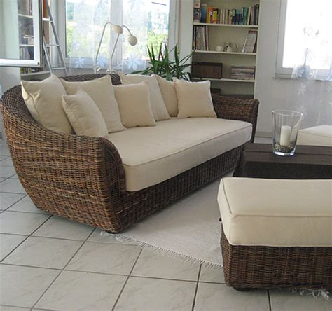 rattan couch wohnzimmer einfach rattan sofa wohnzimmer
