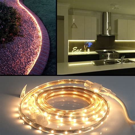 heavy duty 13 foot linkable warm white led rope light for