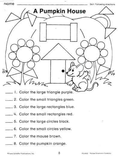 16 Best Images Of Free Following Directions Worksheets Kindergarten  Printable Following