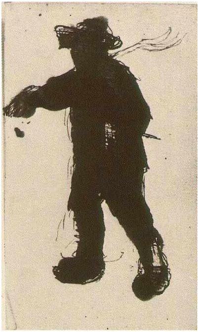 silhouette   man   rake  vincent van gogh