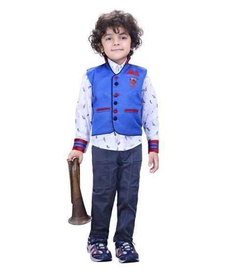 In 5 Introductory Offer Children 39 S Clothes Colors Wear Combo Of Blue Linen Shirts And