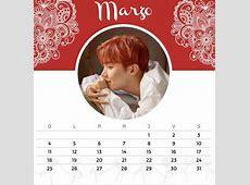 Calendario estilo BTS ARMY's Amino Amino