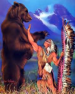 Native American Bear Spirit Art