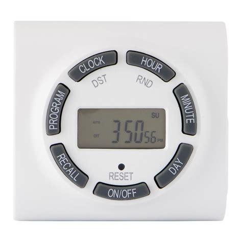 christmas light timer home depot defiant 15 amp 7 day plug in digital polarized timer 49809