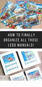 Lego Instruction Manuals  How To Easily Organize Them