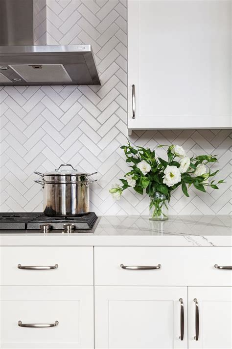herringbone backsplash kitchen 4619 best kitchen dining white images on 1606