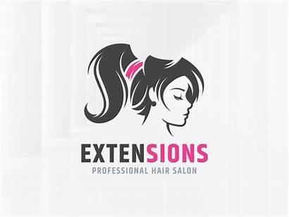Salon Hair Extensions Designs Dribbble Layer Steel