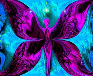 Spiritual Art, Reiki Wall Deco, Fairy Fantasy Print ...