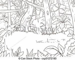 Jungle Clipart Black And White - ClipartXtras