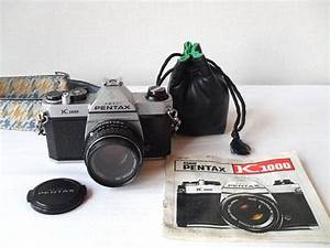 Asahi Pentax K1000 With Extra Lens Houndstooth Strap