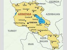 Armenien vektor karta — Stock Vektor © pavalena #9935720