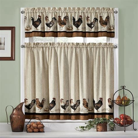 ideas  rooster kitchen curtains  part
