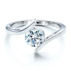tension setting engagement ring contemporary tension set solitaire engagement ring 1481