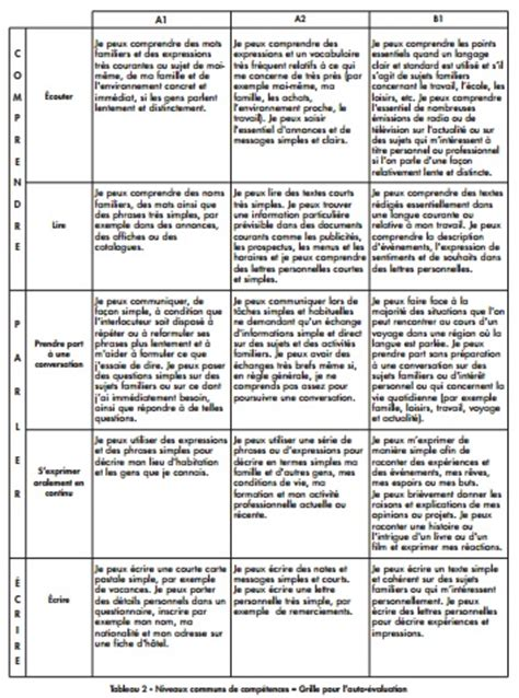 niveau langue cadre europeen europass pr 233 sentation des niveaux communs de r 233 f 233 rence exemples de cv