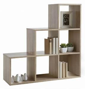 bibliotheque 6 cases cosmos chene brut With produit interieur brut meuble 1 meuble escalier l 170