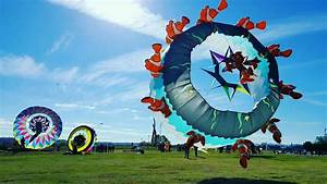 Kites Fly At Sculpture Fields At Montague Park On Saturday