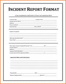 simple resume format in word for job hazard 6 exle of an incident report bussines proposal 2017