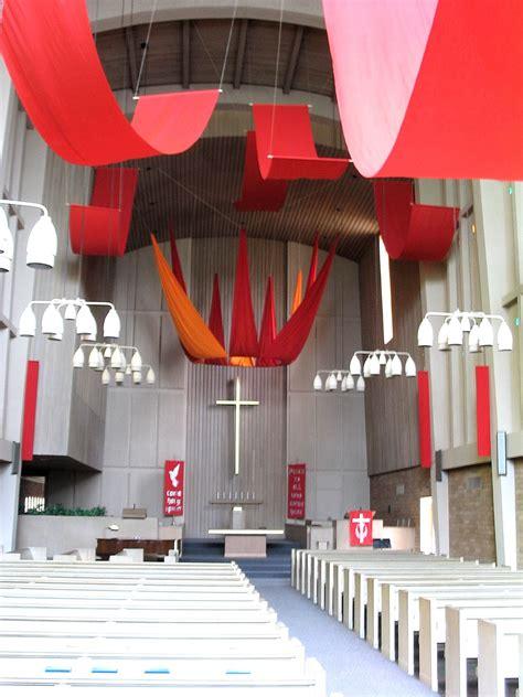 pentecost wind flames sanctuary display liturgical art