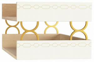 norma white double letter tray contemporary desk With under desk letter tray