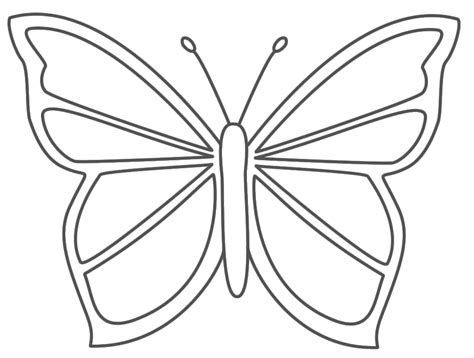 Butterfly Template Free by Butterfly Coloring Pages Bestofcoloring