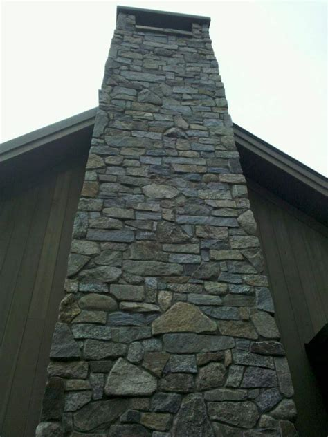 faux stone chimney exterior remodel stone chimney