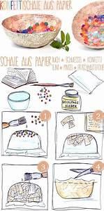 Pappmache Ideen Und Techniken Für Kreatives Gestalten : diy schale aus papier basteln papier basteln mit papier und pappmache ~ Yasmunasinghe.com Haus und Dekorationen