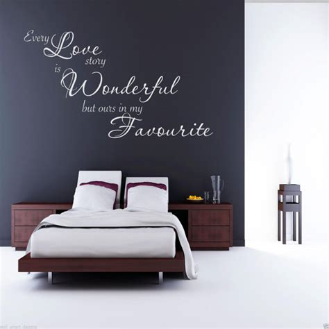 stickers citation chambre chaque amour histoire mur sticker chambre citation sticker