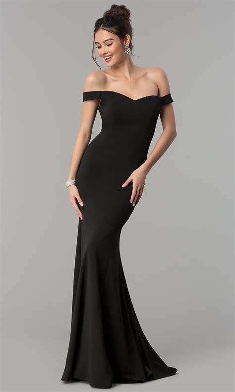 satin long   shoulder prom dress promgirl