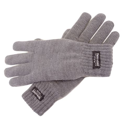 ladies stretch knitted warm winter gloves thinsulate
