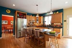 couleur peinture cuisine 66 idees fantastiques With beautiful association de couleurs avec le gris 3 idee couleur cuisine la cuisine rouge et grise