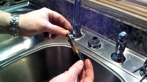 moen kitchen faucet  cartridge repair  replacement