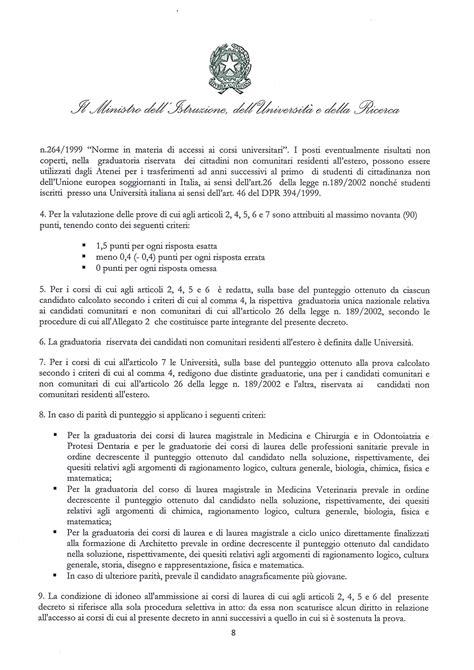 Test Ingresso Professioni Sanitarie Anni Precedenti Professioni Sanitarie 2017 Il Bando Miur Per Il Test